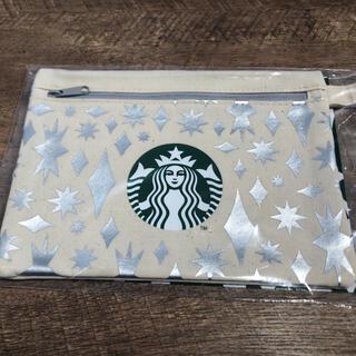 Starbucks Coffee - スタバ ポーチ シルバー