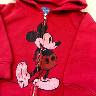 Disney - ミッキーパーカー ディズニーリゾート キッズ 110cm 裏起毛