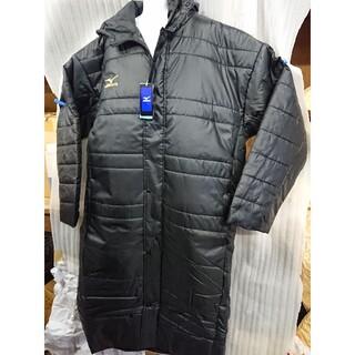 ミズノ(MIZUNO)のMIZUNO ベンチコート(中綿)3Lサイズブラック×ブラック(ナイロンジャケット)