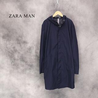 ザラ(ZARA)のZARA MAN ウレタンコーティング 比翼仕立てコート/フーディ(ステンカラーコート)