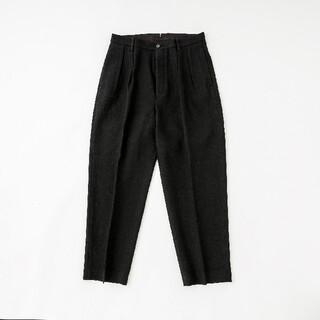 COMOLI - phlannel 20AW wool linen 2tuck trouser