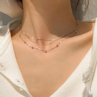 SENSE OF PLACE by URBAN RESEARCH - silver 925 dot chain necklace