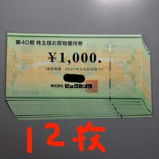 ビックカメラ 株主優待券 1000円×12枚(ショッピング)