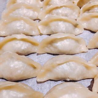 無添加 皮から手作り白餃子 皮もちもち中ジューシー 焼いても茹でても美味しい(野菜)