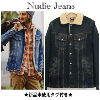 Nudie Jeans - ★半額以下★新品未使用 タグ付き ヌーディジーンズ ボアジャケット M