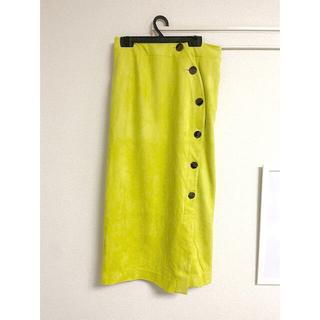LagunaMoon - ラグナムーン 黄色ベロアスカート