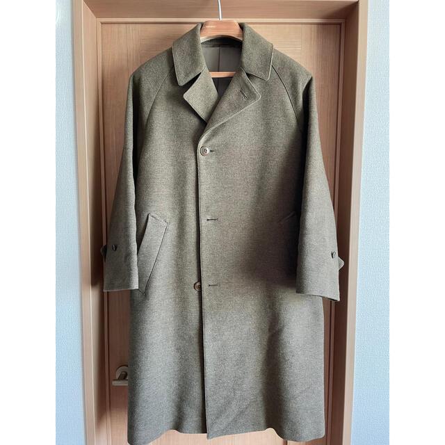 COMOLI(コモリ)のcomoli wool cotton balcollar coat サイズ1 メンズのジャケット/アウター(ステンカラーコート)の商品写真
