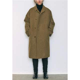 COMOLI - comoli wool cotton balcollar coat サイズ1