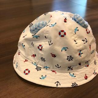 ベビー帽子 ハット 耳付き くま 46cm(帽子)