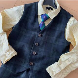 グリーンレーベルリラクシング(green label relaxing)のスーツ 入学式 卒園式 子供スーツ シャツ ストライプ 入学式 卒園式 結婚式(ドレス/フォーマル)