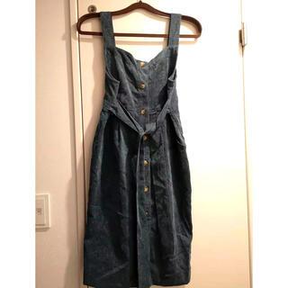 ワンピース ジャンパースカート(ひざ丈スカート)
