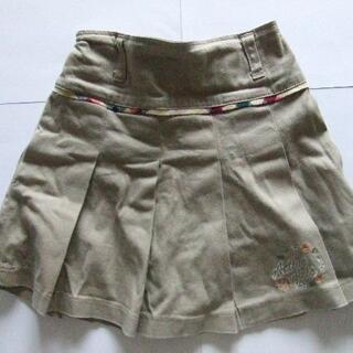 130 スカート ベージュ 女の子 (スカート)