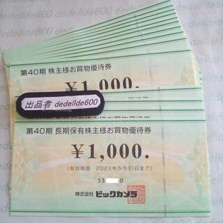 株主優待券 ビックカメラ系  22,000円分とクーポン券(ショッピング)