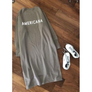 L'Appartement DEUXIEME CLASSE - 新品タグ付Americana アメリカーナ サイドジップ フード ワンピース