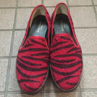 シマムラ(しまむら)の赤ヒョウ柄靴(その他)