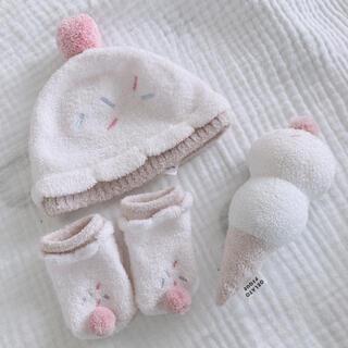 gelato pique - ジェラピケ♡アイス♡ベビー3点グッズ♡帽子、靴下、ガラガラ