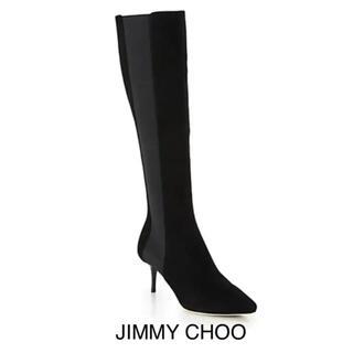 JIMMY CHOO - 新品JIMMY CHOO美しいロングブーツ23cm黒 ヒール6.5cm