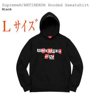 シュプリーム(Supreme)のsupreme×ANTIHERO コラボパーカーLサイズ(パーカー)