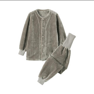 MUJI (無印良品) - 新品 無印 ボアフリース 着る毛布 はらまき付きパジャマ