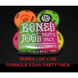 ボーンズ BONES V1 52mm PARTY PACK(スケートボード)