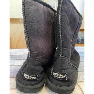 ヴァンズ(VANS)のvans☆黒い☆ブーツ☆24センチ〜25センチ(ブーツ)