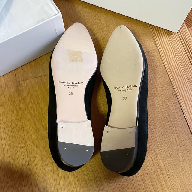 MANOLO BLAHNIK(マノロブラニク)の2020 マノロブラニク   ローファー  パンプス ハンギシ 黒 ビジュー レディースの靴/シューズ(ローファー/革靴)の商品写真