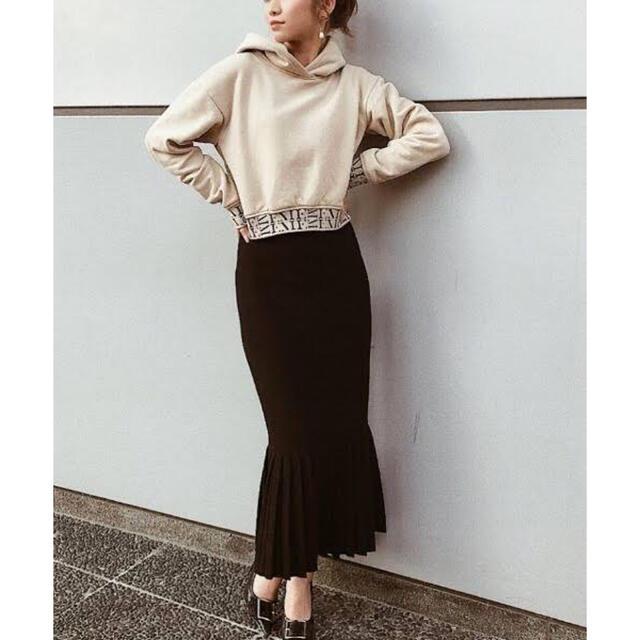 eimy istoire(エイミーイストワール)の♡eimy istoire♡プリーツニットマーメイドスカート♡ブラック♡ レディースのスカート(ロングスカート)の商品写真