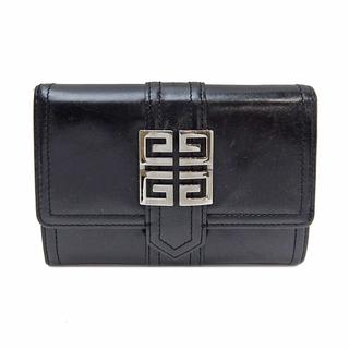 ジバンシィ(GIVENCHY)のジバンシイ  二つ折り財布  財布 コンパクトウォレット ロゴ   ブラ(財布)