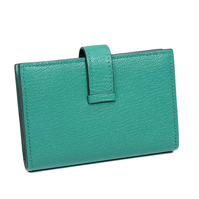 Hermes(エルメス)のエルメス  二つ折り財布  ベアン ミニウォレット  D刻印 グリーン メンズのファッション小物(折り財布)の商品写真