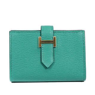 エルメス(Hermes)のエルメス  二つ折り財布  ベアン ミニウォレット  D刻印 グリーン(折り財布)
