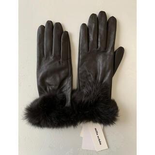 ミラショーン(mila schon)のmira schon   革手袋 新品未使用タグ付(手袋)