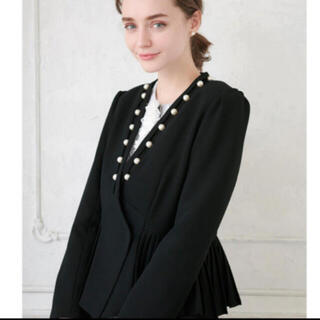 Chesty - 新品未着用❣️チェスティ chesty パールジャケット ブラック