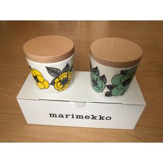marimekko - マリメッコ ケスティト KESTIT ラテマグ 2個セット 緑 黄色