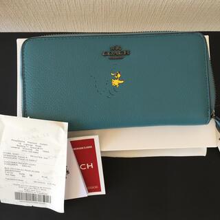 COACH - 【コラボ限定商品】コーチ × スヌーピー 長財布 ウッドストック 16122B