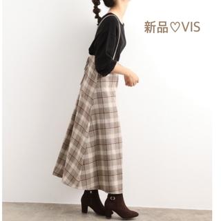 ViS - 【新品】VIS  チェック柄ジャンパースカート