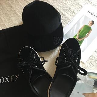 フォクシー(FOXEY)のフォクシー ベロアシューズ 靴 38(スニーカー)