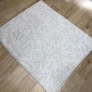 ニトリ(ニトリ)のニトリ ダブルサイズ 毛布 ジャカードタオルケット(レクス GY D)(毛布)