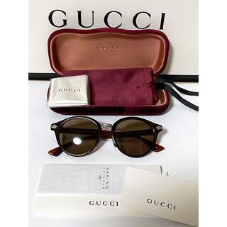 グッチ(Gucci)の定価10万 GUCCI 国内正規品 日本製 チタン ラウンドサングラス 美品(サングラス/メガネ)