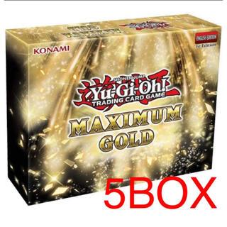 遊戯王 - 遊戯王 マキシマムゴールドボックス 5BOX 1カートン