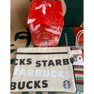 Starbucks Coffee - スターバックス クリスマス ホリデー キャンバスポーチ+コーヒーセット スタバ