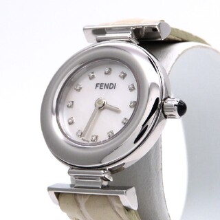 FENDI - 【FENDI】フェンディ 時計 '12Pダイヤモンド' ホワイトシェル☆極美品☆