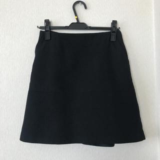 ESTNATION - エストネーション ウールバックフレア台形スカート 黒 トゥモローランド セオリー