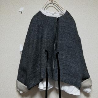 ネストローブ(nest Robe)のネストローブ リネンウールツイルジャケット(ノーカラージャケット)