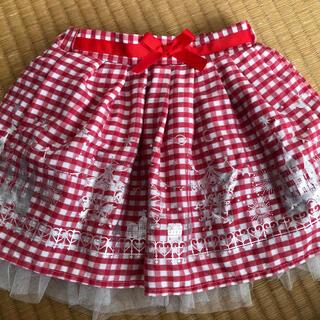 クリスマス スカート 100赤