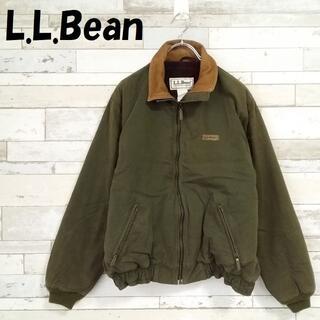 エルエルビーン(L.L.Bean)のエルエルビーン 70~80'sタグ レザー襟 スイングトップ ブルゾン 胸ロゴ(ブルゾン)