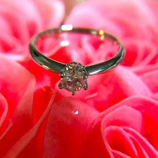 プラチナ ダイヤモンドリング 💖  0.311 ct
