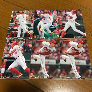 ヒロシマトウヨウカープ(広島東洋カープ)のカルビー 野球カード 6枚 広島カープ(スポーツ選手)