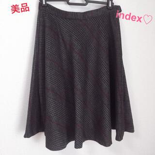 INDEX - 【美品】12/3まで値下げ♡インデックス♡スカート♡チェック♡フレアスカート
