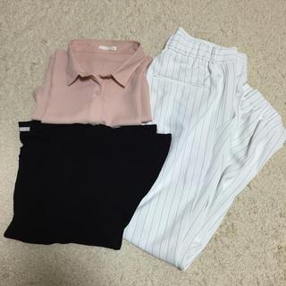 ジーユー(GU)のGU UNIQLO オフィスコーデセット(シャツ/ブラウス(半袖/袖なし))