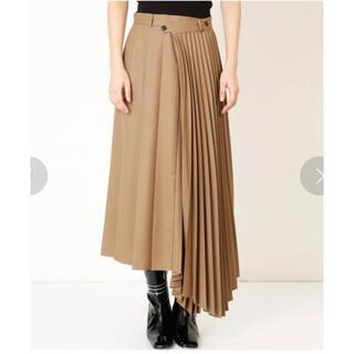 LE CIEL BLEU - LE CIEL BLEU Asymmetric Pleated Skirt